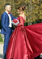 Ball Gown Bateau Full/Long Sleeve Chapel Train Satin Prom Dresses With Lace