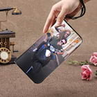 Personalized Pink/Black Leather Photo Wallet for Woman