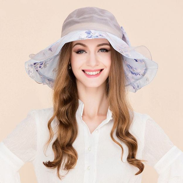 Ladies' Charming/Elegant/Beautiful Silk Beach/Sun Hats/Tea Party Hats/Floppy Hats With Bowknot