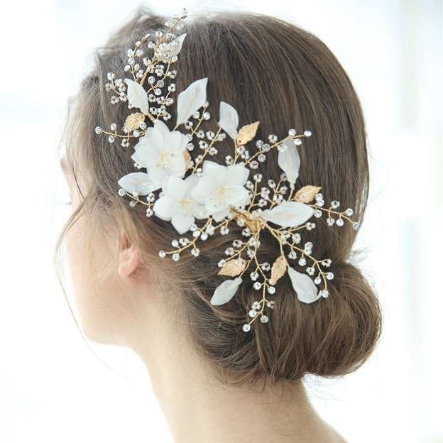Ladies Beautiful/Elegant Alloy/Voile With Flower/Beads/Rhinestone Hairpins
