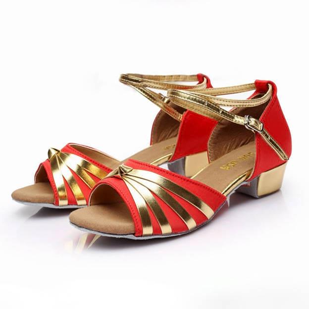 Women's/Girl's Satin/PU With Buckle Peep Toe Dance Shoes