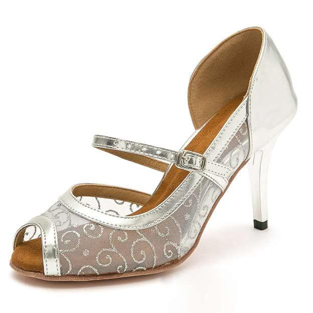 Women's PU/Tulle Heels/Peep Toe Dance Shoes