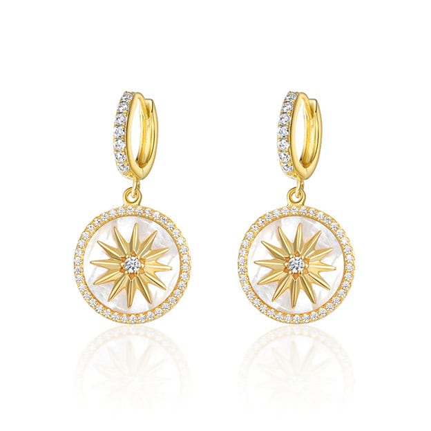 Women's Elegant 925 Sterling Silver Earrings With Cubic Zirconia For Her