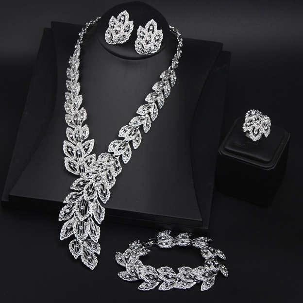 Women's Charming Silver Jewelry Sets For Bride