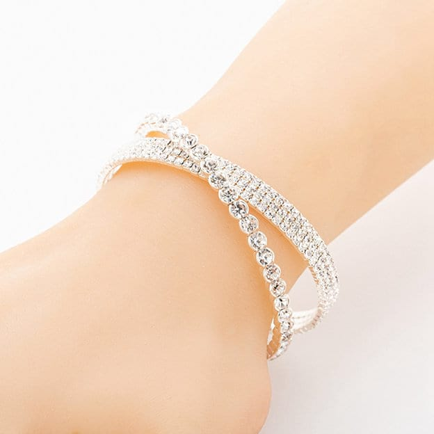 Exquisite Silver Women's Bracelets With Rhinestone For Her