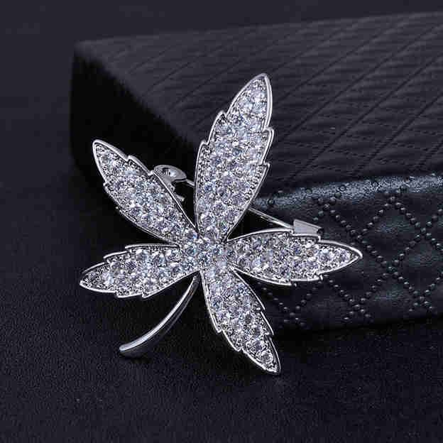 Women's Nice Silver Brooches With Cubic Zirconia