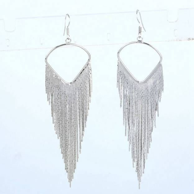 Women's Elegant Silver Earrings