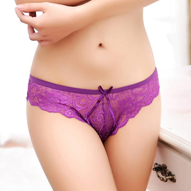 Feminine Sexy Lace Bow Panties