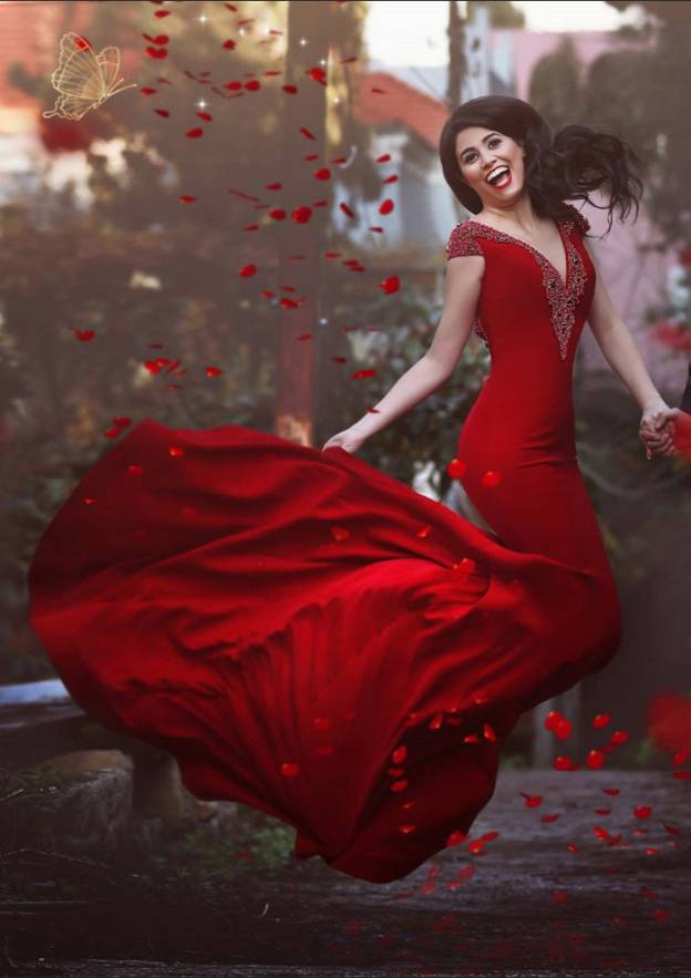 Trumpet/Mermaid V Neck Sleeveless Court Train Elastic Satin Prom Dress With Beading