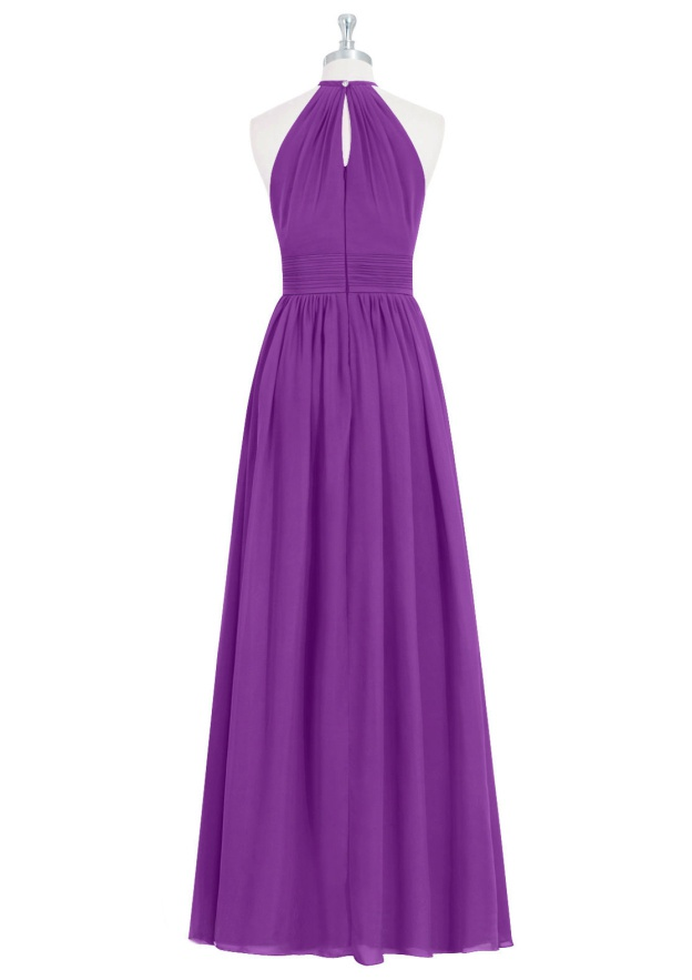 A-Line/Princess Scoop Neck Sleeveless Ankle-Length Chiffon Bridesmaid Dresses With Pleated