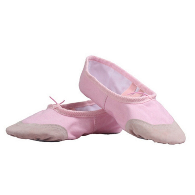 Close Toe Flats Flat Heel Canvas Dance Shoes