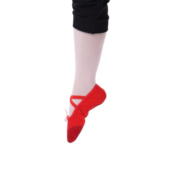 Close Toe Flats Flat Heel Leather Dance Shoes