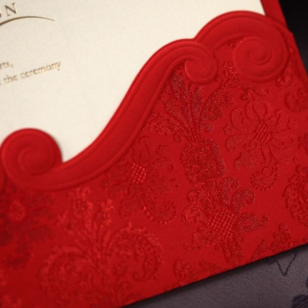 Red Art Paper Invitation Cards 30 Piece/Set