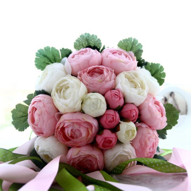 Round Fabric Roses Bouquets