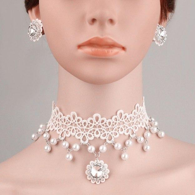 Basketwork Irregular Pierced Jewelry Sets With Imitation Pearls