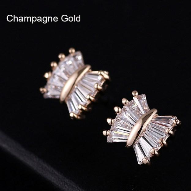 Alloy Irregular Pierced Fashion Earrings With Rhinestones