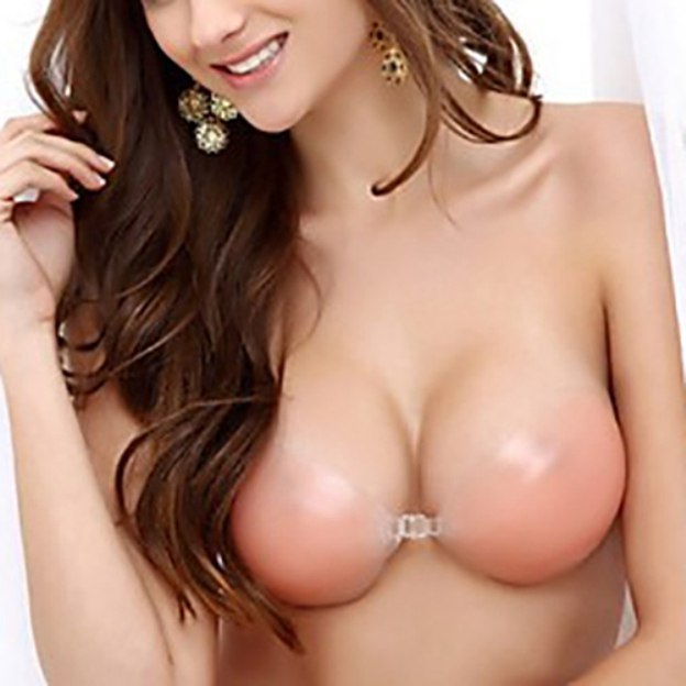 Front Closure 3/4 Cup Strapless Chinlon Invisible Bras for Wedding Special Occasion Casual