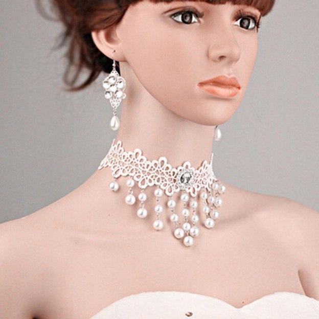 Basketwork Irregular Earclip Jewelry Sets With Imitation Pearls Rhinestone