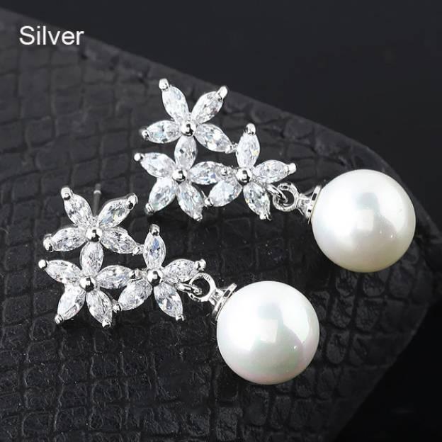 Alloy Irregular Earclip Fashion Earrings With Imitation Pearls Rhinestone