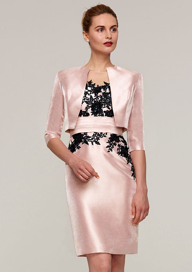 3/4 Sleeve Waist Length Satin Jackets & Wraps