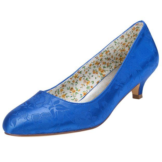 Women's Satin Close Toe Wedding Shoes