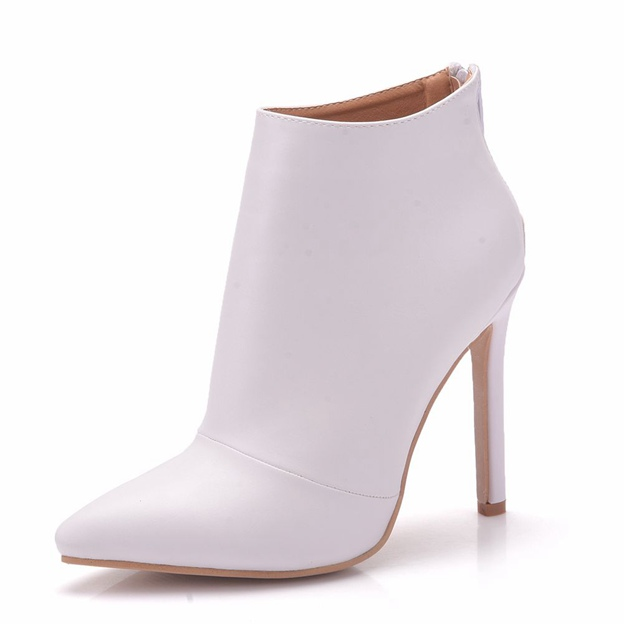 Women's PU With Zipper Heels Ankle Boots Shoes