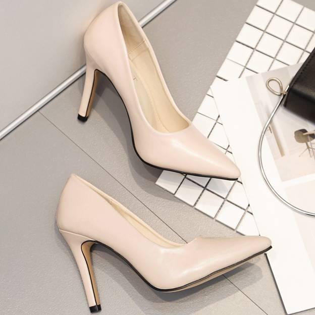 Women's Leatherette Close Toe Heels Fashion Shoes