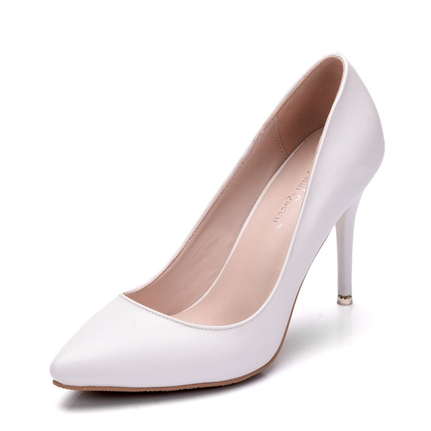 Women's PU Close Toe Heels Wedding Shoes