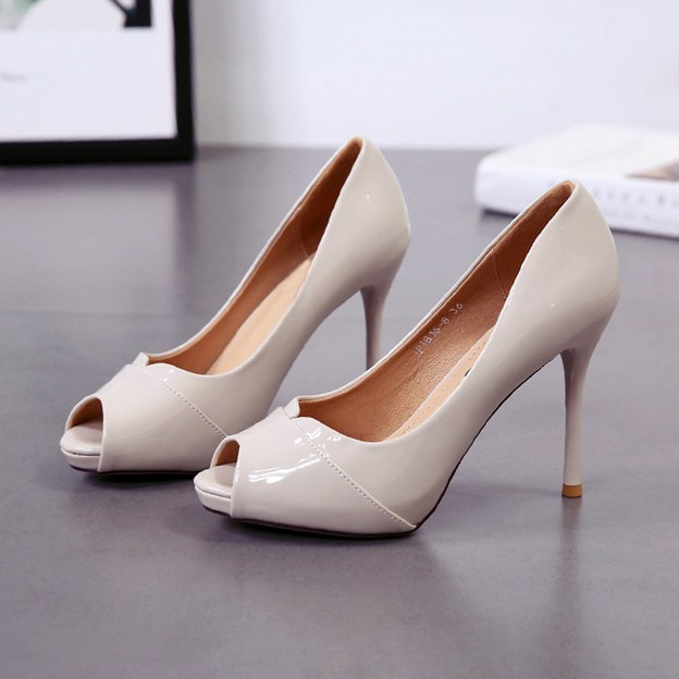 Women's Leatherette Platform Pumps Heels Fashion Shoes