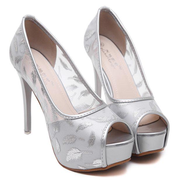 Women's Mesh Heels Pumps Platform Fashion Shoes