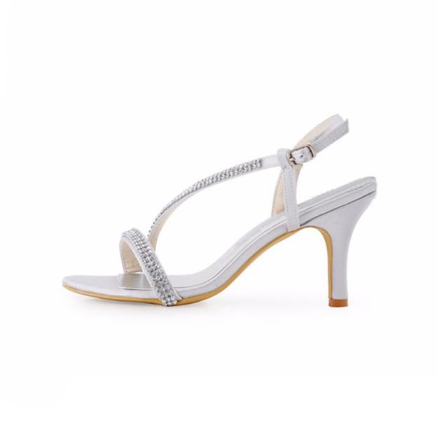 Women's Satin With Buckle SlingBacks Sandals Peep Toe Heels Shoes