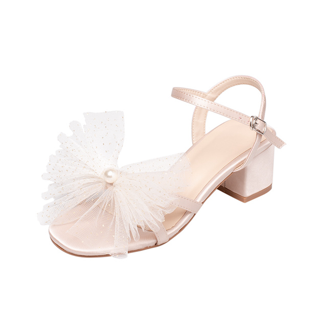 Women's Satin With Buckle Peep Toe Sandals Fashion Shoes