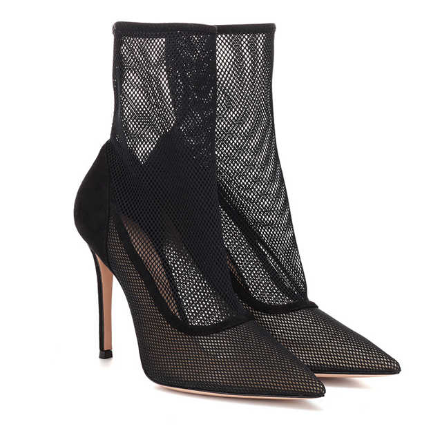 Women's Mesh With Hollow-out Heels Close Toe Fashion Shoes
