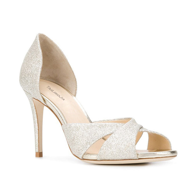 Women's Sparkling Glitter Heels Sandals Fashion Shoes