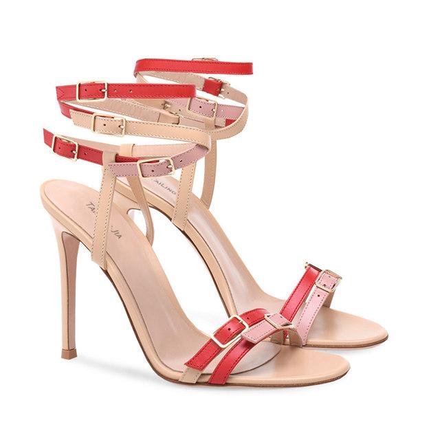 Women's PU With Buckle Heels Peep Toe SlingBacks Fashion Shoes