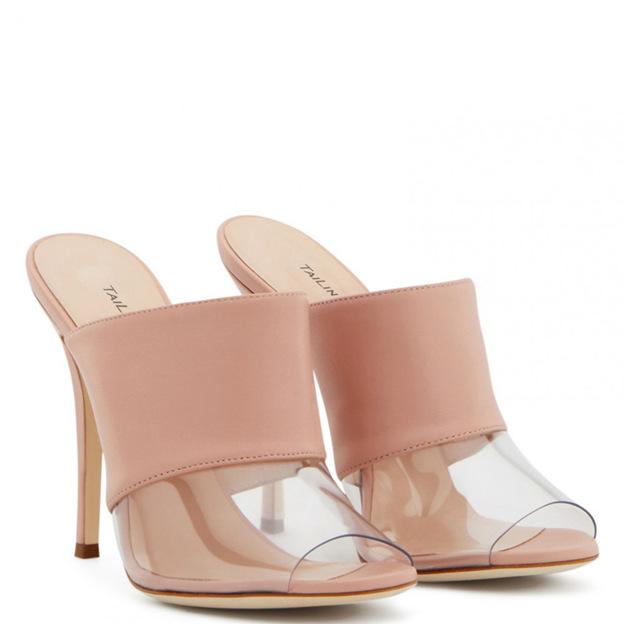 Women's PU With Split Joint Flip Flops Heels Fashion Shoes