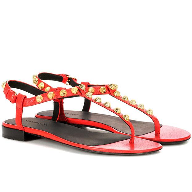 Women's PU With Rivet Flats Sandals Fashion Shoes