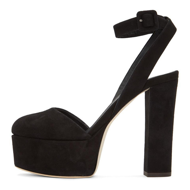 Women's Leatherette With Ankle Strap Close Toe Heels Fashion Shoes