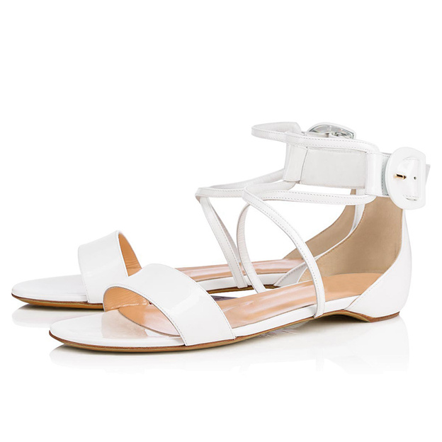Women's PU With Buckle Sandals Peep Toe Fashion Shoes