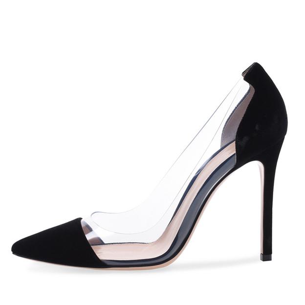 Women's Suede Close Toe Heels Fashion Shoes