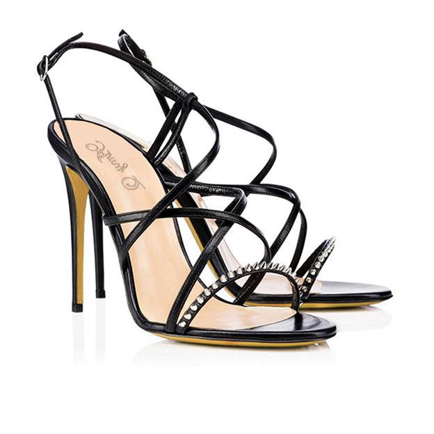 Women's PU With Rivet Heels Sandals Fashion Shoes