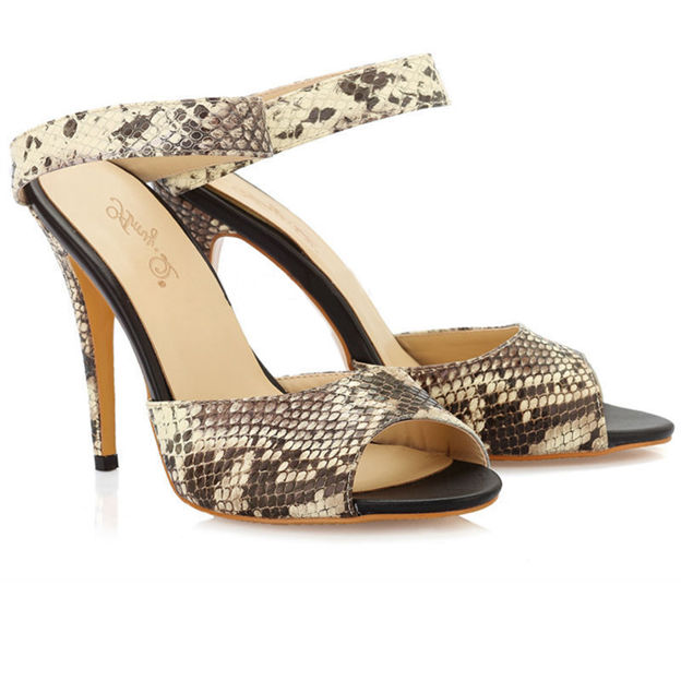Women's PU With Ankle Strap Sandals Heels Fashion Shoes