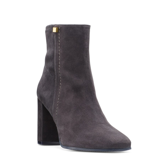 Women's Suede Heels Ankle Boots Fashion Shoes