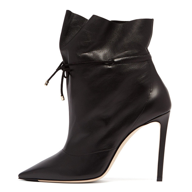 Women's PU With Elastic Band Heels Ankle Boots Fashion Shoes