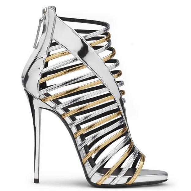 Women's PU With Zipper Peep Toe Heels Fashion Shoes