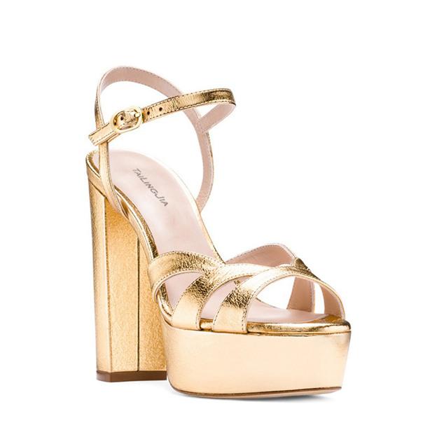 Women's PU With Buckle Heels Peep Toe Platform SlingBacks Fashion Shoes