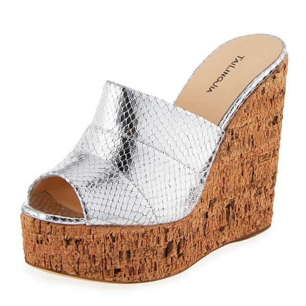 Women's PU Flip Flops Wedges Fashion Shoes