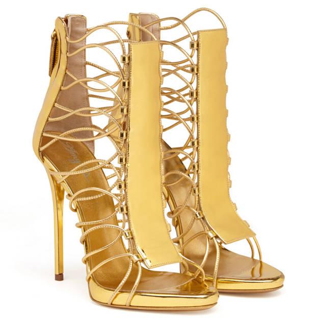 Women's PU With Zipper/Lace-up Peep Toe Heels Fashion Shoes