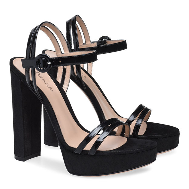 Women's PU With Ankle Strap Heels Sandals SlingBacks Fashion Shoes
