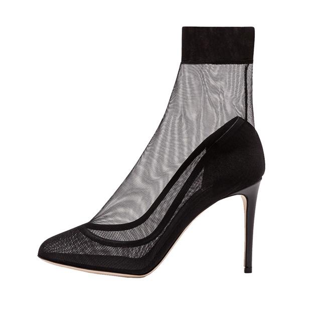 Women's Mesh Close Toe Heels Fashion Shoes